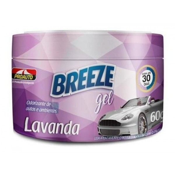 Breeze Gel Proauto Odorizante Lavanda 60G