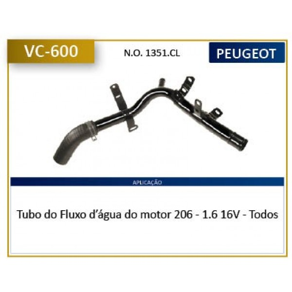 Tubo Arrefecimento Do Motor 206 - 1.6 16v - Todos ...