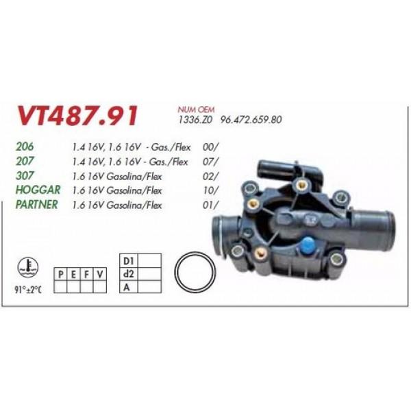 Válvula Termostática Peugeot 206 / 207 / 307 / Partner / C3 / C4