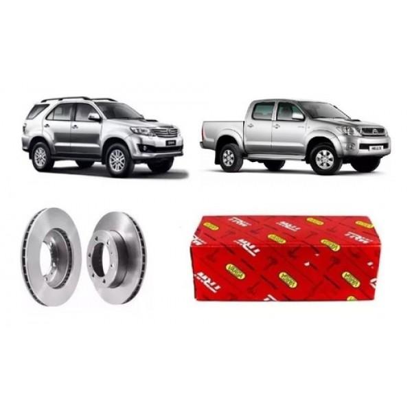 Par Disco Freio Dianteiro Toyota Hilux Sw4 2015 Original Trw
